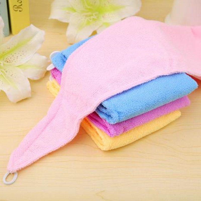 Hohe Qualität Microfiber Magic Hair Dry Trocknen Turban Wrap Handtuch Hut Kappe Quick Dry Trockner Bad Handtuch