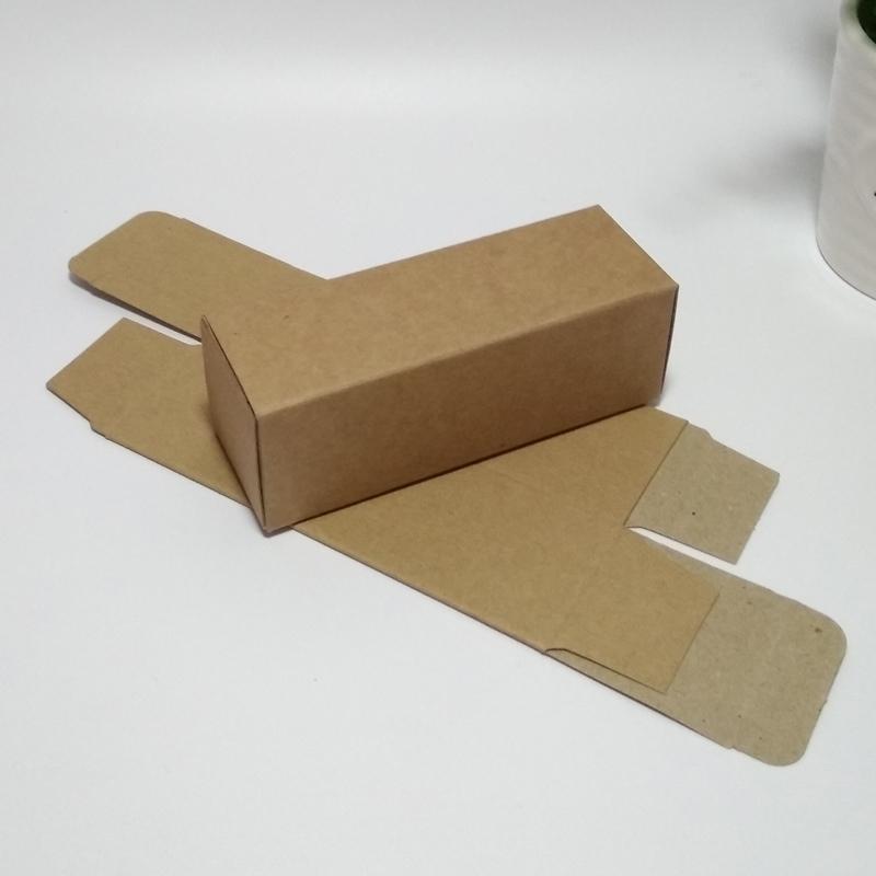 6*6*10 White Black Kraft Paper Box DIY packaging box paper craft package