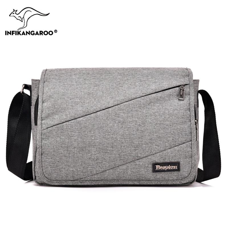 90e0c6c5bee 2018 School Men Satchels Messenger Bags Travel High Quality Male Shoulder  Bag Fashion Vintage Men s Solid Soft Crossbody Bag Name Brand Purses  Handbag Sale ...