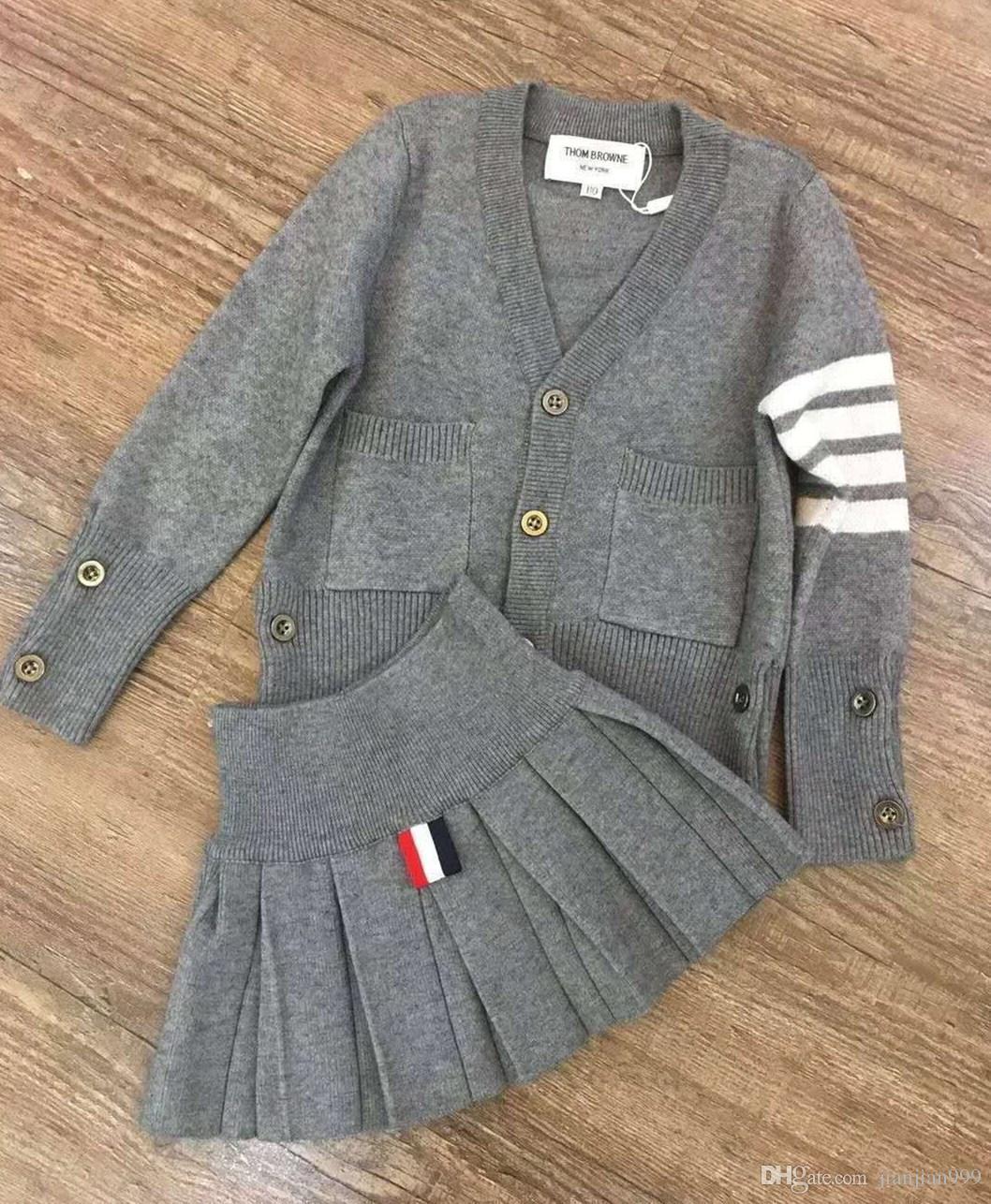 b8e8f64bf28 Girls Knitting Set 2018 Spring Korean Children s Long-sleeved ...
