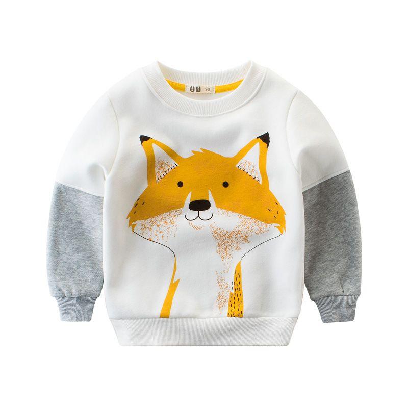 f4b6065291c 2019 Baby Boys Fleece Sweatshirts Kids Boy Clothes Children Winter T Shirt  Thick Warm T Shirts Fox Bear Cartoon T Shirt 2 10T From Kidsonlineshop