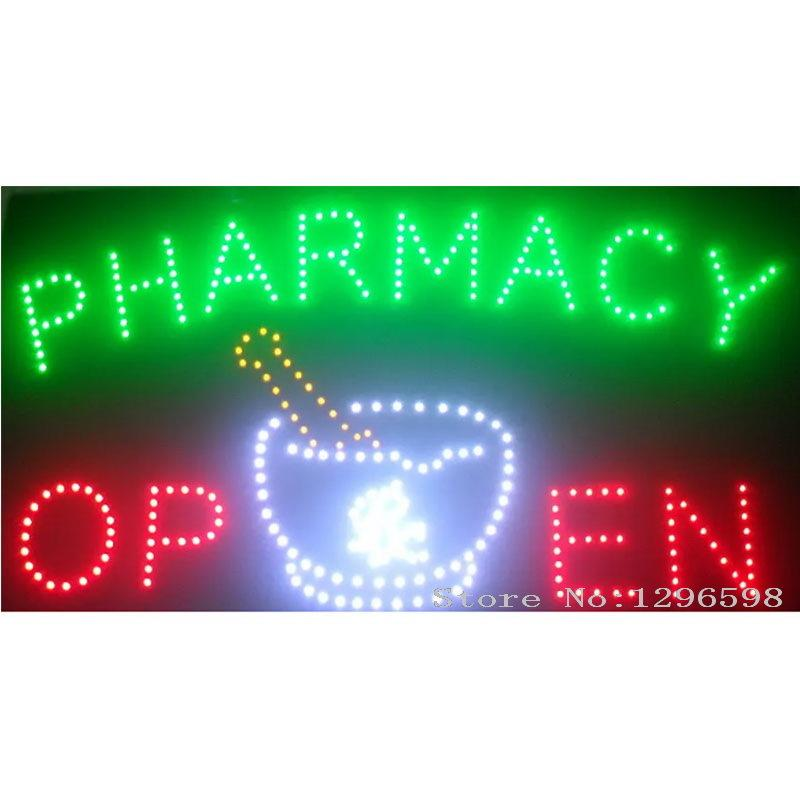 2018 Pharmacy Neon Signs Hot Sale Led Screen Display 15.5x27.5 Inch Indoor  Cartel Luminoso Pharmacy Flashing Led Open Sign Board UK 2019 From  Hero zhangpeng ... 9d10b28239