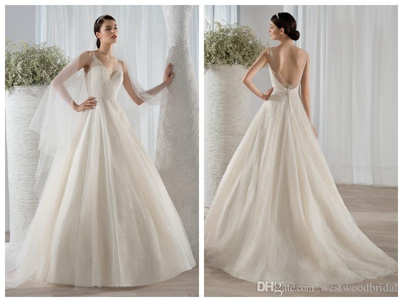 2018 Wedding Dress Beach Wedding Dresses Bridal Gowns Demetrios Deep ...