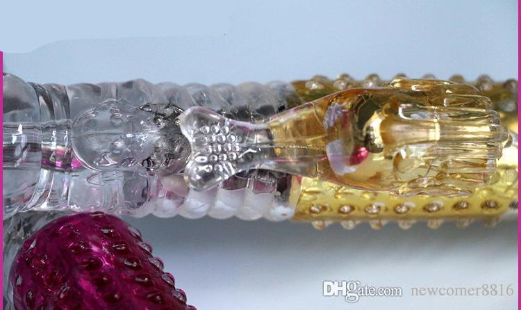 360Golden Color Vibrating G-Spot Jack Rabbit Vibrators Body Massager Women Sex Toys Sex Product for Women Waterproof Vibrators Hot Sales