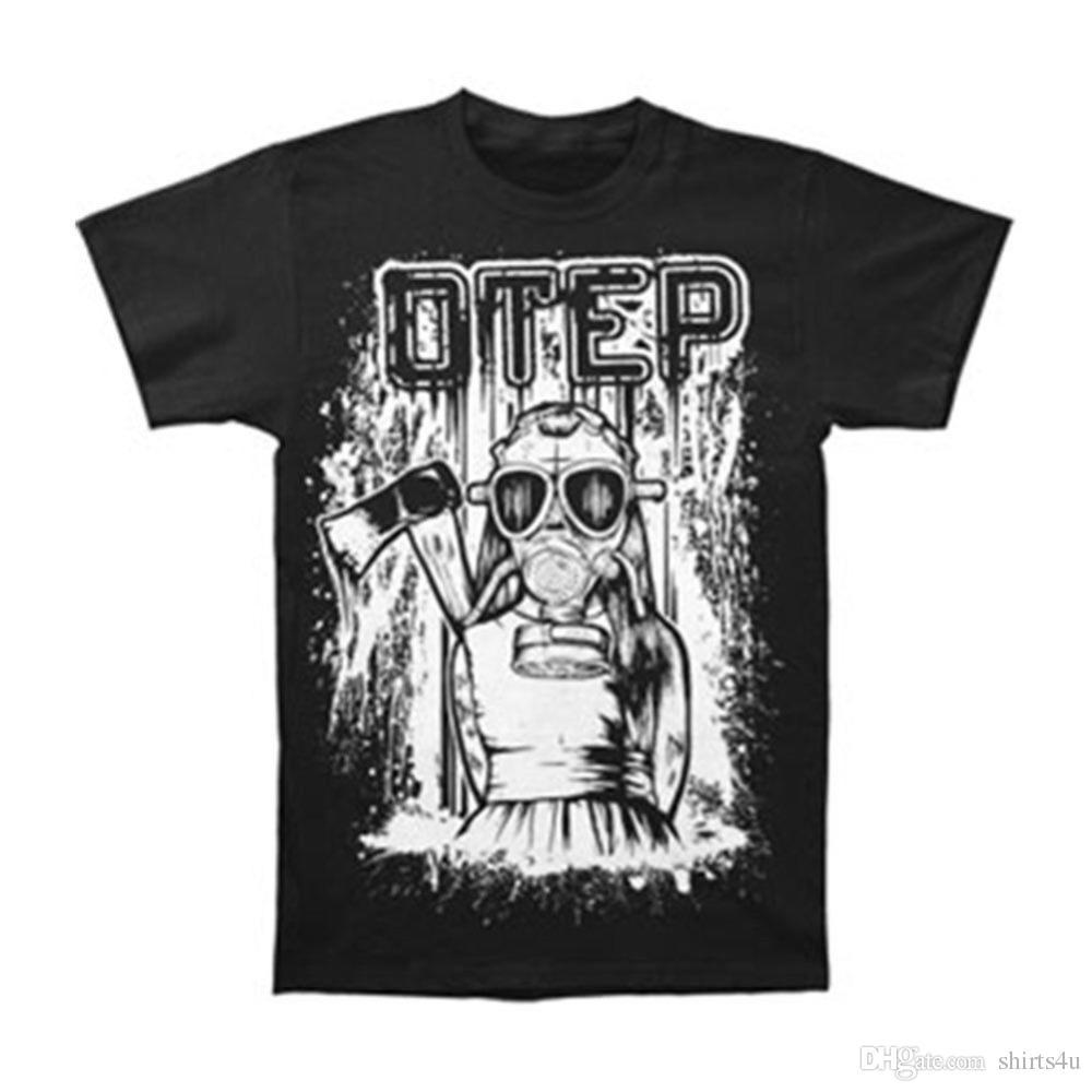 563bc2476 Custom T Shirt Design O-Neck Short Sleeve Otep Men's Little Girl Gas ...