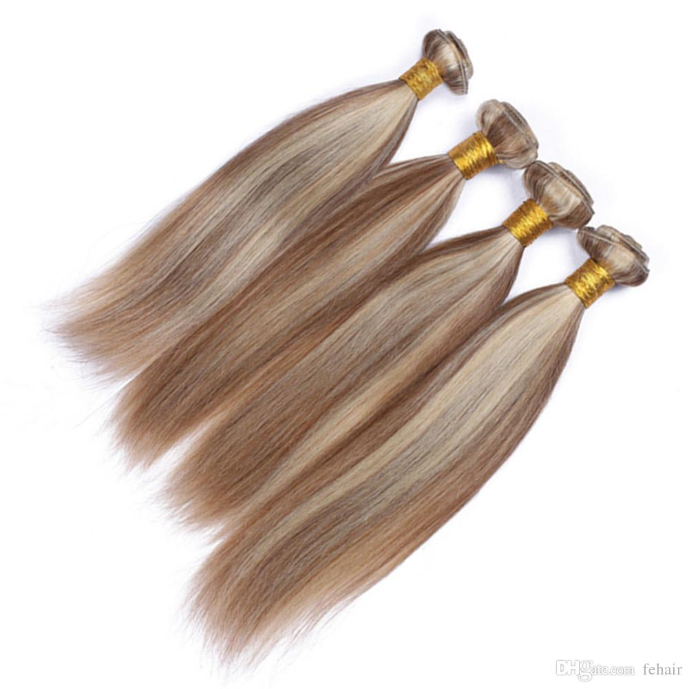 Malaysian Piano Mix Color Human Hair Weave Extensions Silky Straight