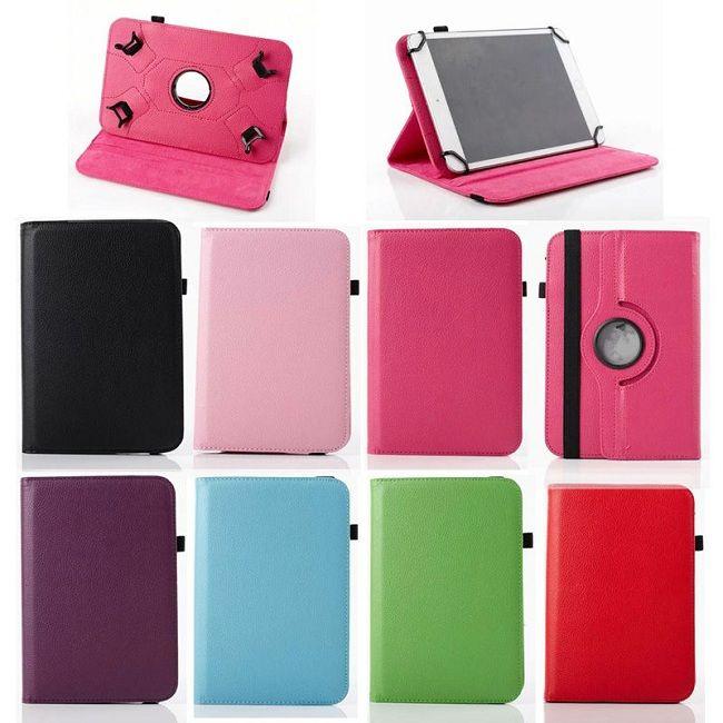 Universal 360 giratoria Flip cuero de la PU cubierta del caso del soporte para 7 pulgadas 8 pulgadas 10 pulgadas tableta ipad Samsung Tablet