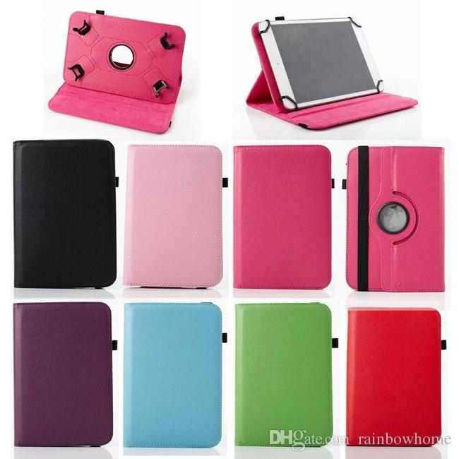 Universal 360 Rotating Flip PU Leather Stand Case Cover for 7 inch 8 inch 10 inch Tablet ipad Samsung Tablet