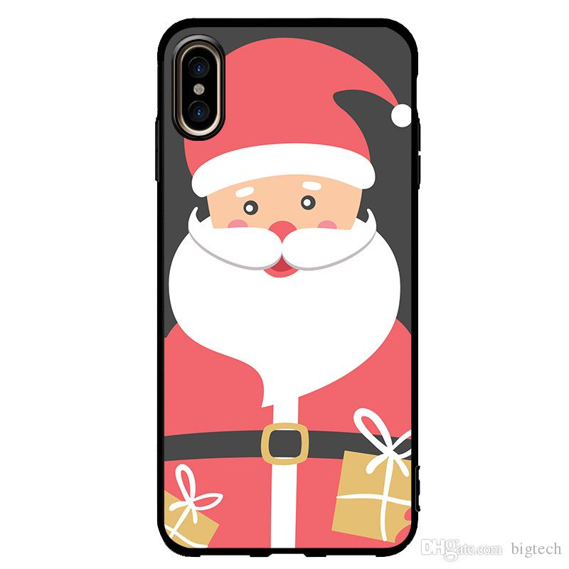 Custom Phone Case For Christmas Santa Claus UV Printing For iPhone Xs Max Xs Samsung Note 9 s9 Back Shell Coque DIY Design