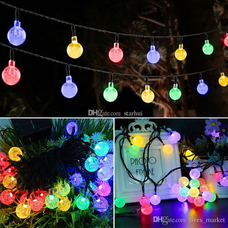 led crystal ball solar powered light halloween christmas decorations 30 lights home outdoor garden patio party supplies wx9 35 halloween decorations led - Halloween Christmas Decorations
