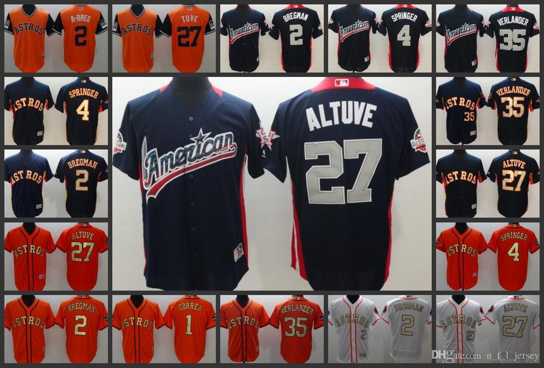 88f9fe775e2 Houston Astros Mnas Jersey #27 Jose Altuve 4 George Springer 35 ...