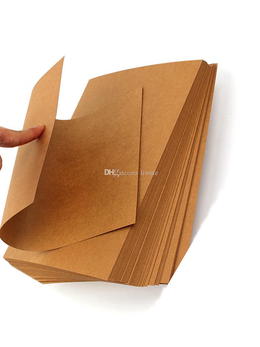 liwute a4 brown kraft paper paperboard cardboard blank card