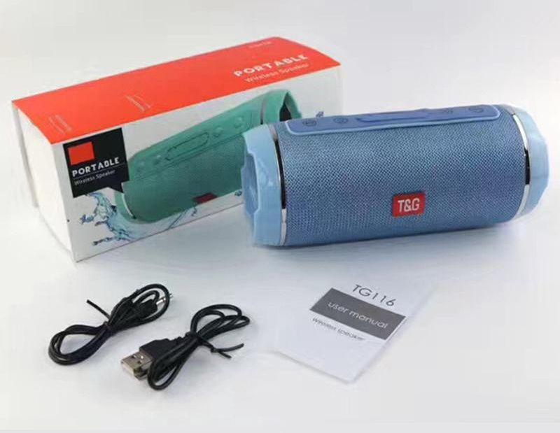 TG116 Wireless Bluetooth Speaker Waterproof Portable Dual Speaker Super  brass Outdoor support TF card FM Radio