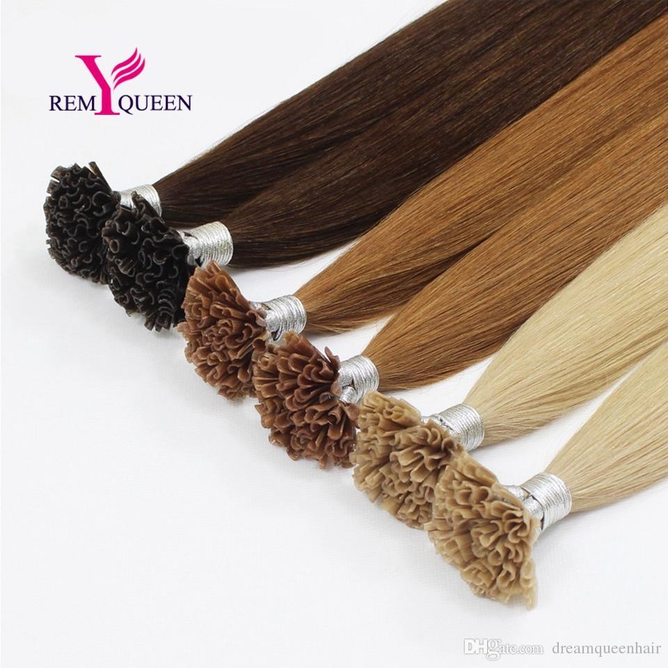 Dream Remy Queen Extensiones de cabello humano 100% U Punta de cabello 1 g por soporte para peluquería de salón Opción de extensión de cabello de color