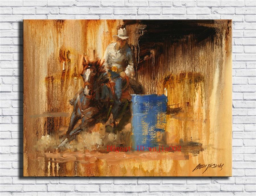 Großhandel Rodeo Rider, Leinwand Gemälde Wohnzimmer Home Decor ...