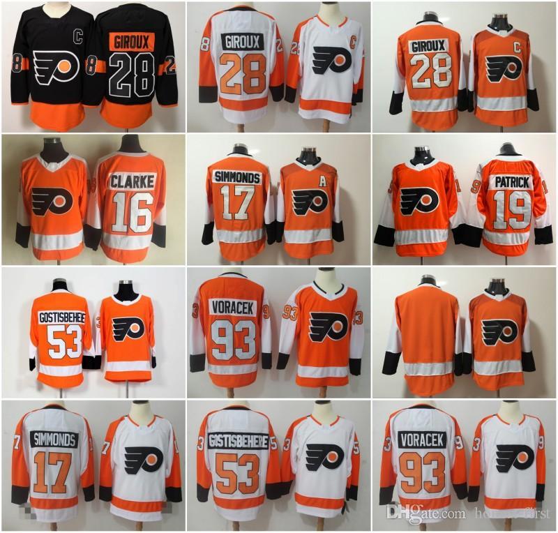 2019 Philadelphia Flyers Jersey 28 Claude Giroux 53 Shayne Gostisbehere 17  Wayne Simmonds 93 Jakub Voracek 11 Travis Konecny 19 Nolan Patrick From  Honest ... d6bba7f16