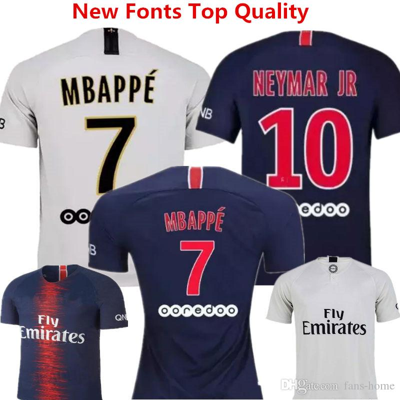21cf4288928 2019 Buffon Soccer Jersey Neymar Jr Football Shirts 18 19 Mbappe Cavani  France Camisa De Futebol Draxler Dani Alves Di Maria Away Uniforms Kids  From Fans ...