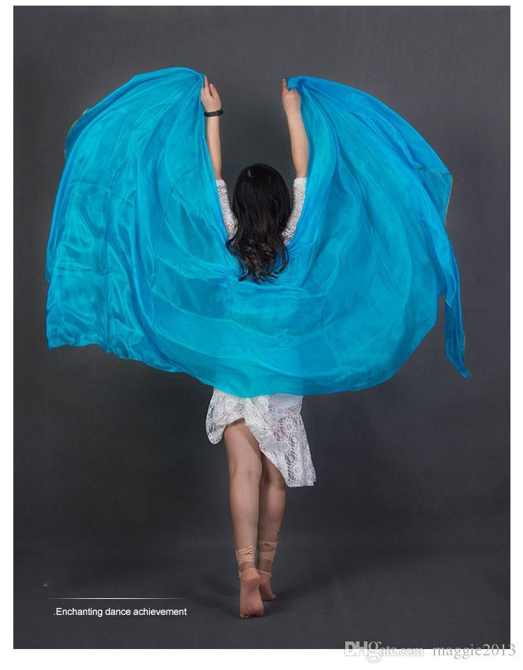 210 * 90 cm Imitation Silk Belly Dance Scarf Chiffon Veil Of Women Shawl Shade Of Color Of Free Transport