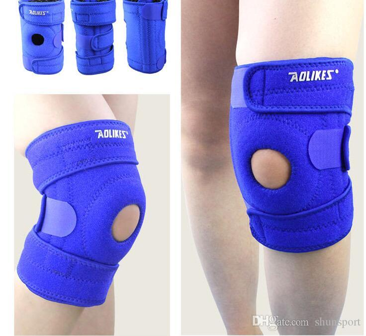 Spring Adjustable Sports Leg Knee Support Brace Wrap Pads Sleeve Cap high quality