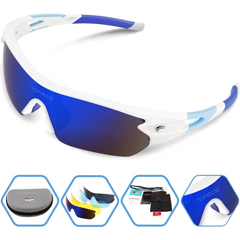 4949485337 2018 Polarized Sports Sunglasses With 5 Interchangeable Lens For Men Women  Cycling Running Driving Fishing Golf Bike Riding Glasses From Pothos