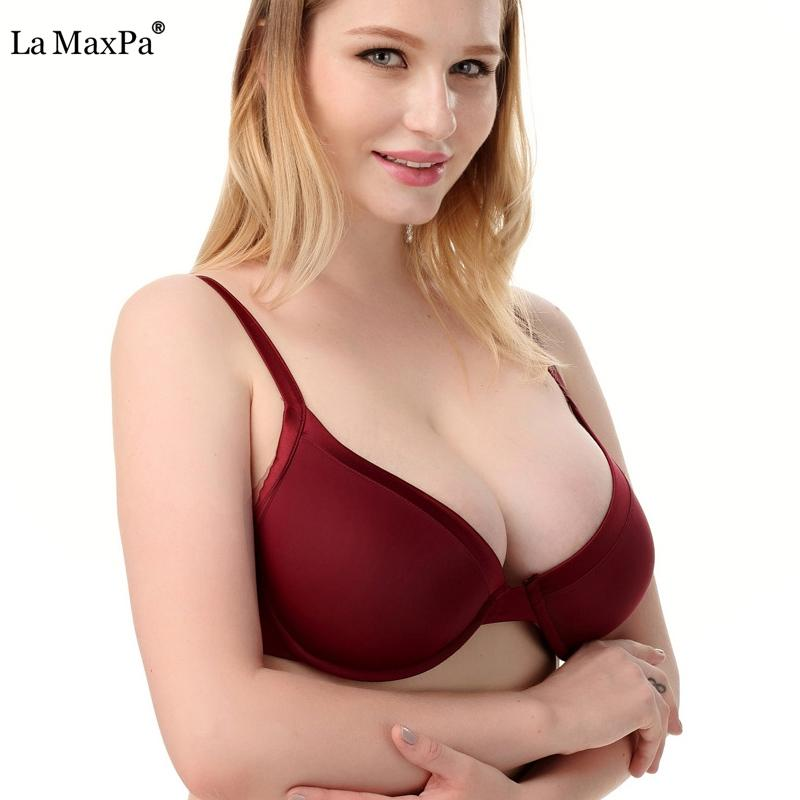 b71d5abe66fbb 2019 Plus Size Bra B C D Cup Women Sexy Push Up Brassiere Bralette Female  Adjustment Intimates Underwear Sutia Lingerie Full Cups From Shuangyin1998
