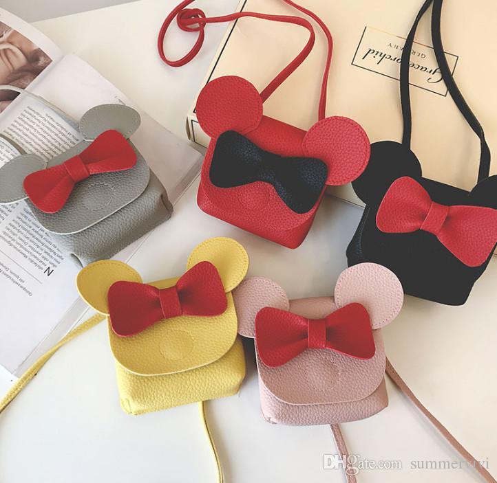 Children Bag Kids Stereo Animal Ear Crossbody Bag Girls Bows PU Single Shoulder  Bag Purse Children Cartoon Messenger Bags F2014 Childrens Handbags Girls ... 74042be22fdba