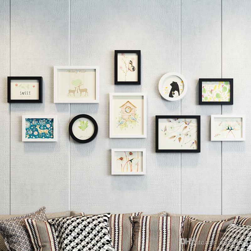 Großhandel 12 Stücke Bilderrahmen Für Familie Wand Wohnzimmer Dekor ...