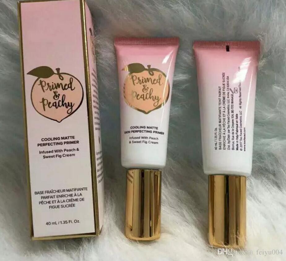 Primer Peachy Cooling Matte Skin Perfection Primer Primed infuso con peach Sweet Fig Cream epacket spedizione gratuita