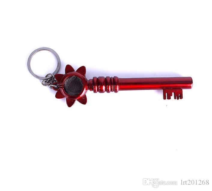 Pingente chave criativo Mini pipe pequeno tubo