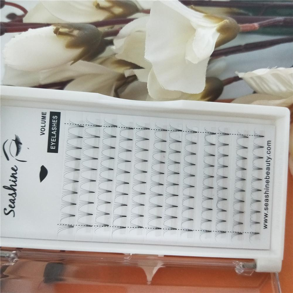 Seashine private label 5D handmade pre fanned lashes faux mink volume eyelashes makeup individual eyelash extension