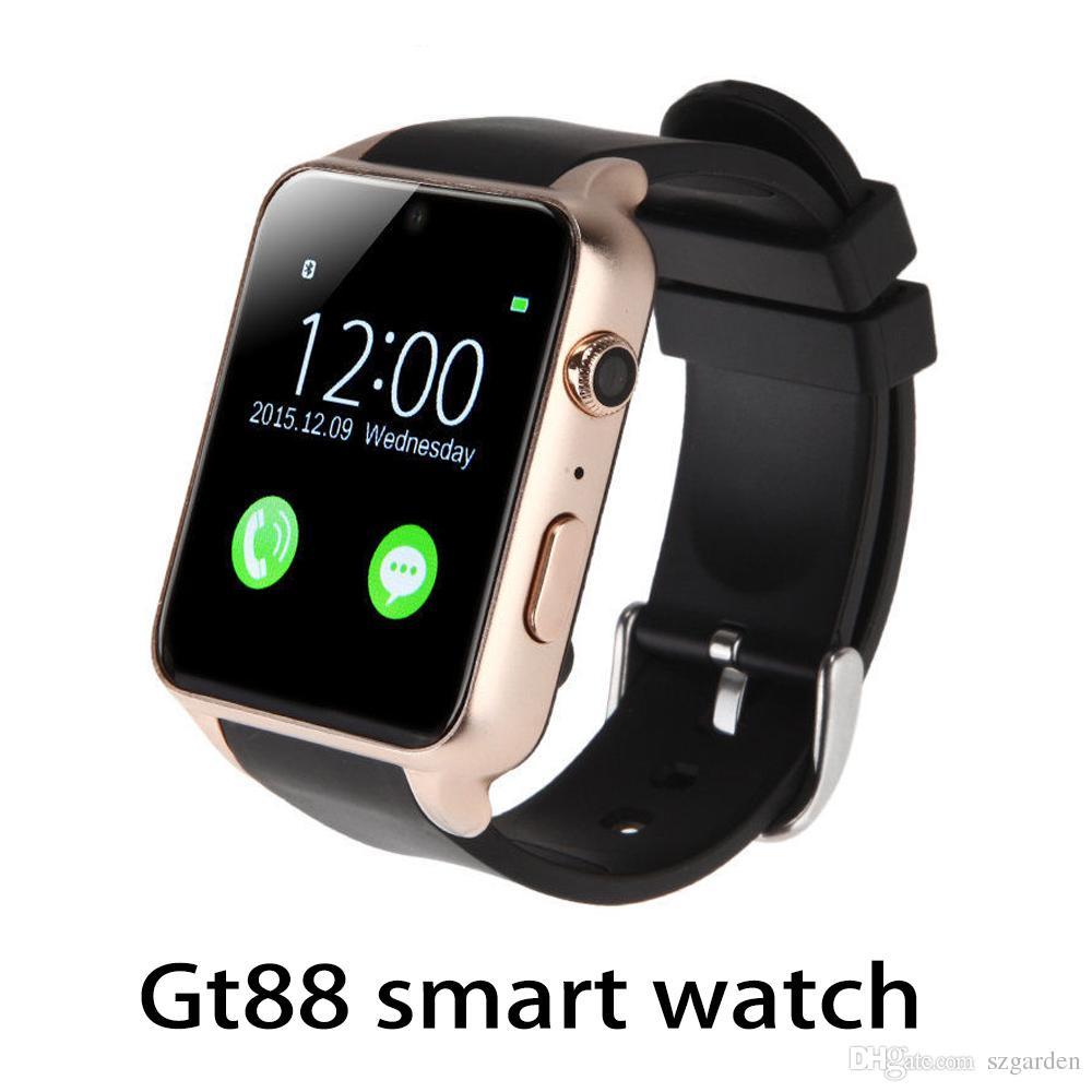 f30ba4a3eb39 Celulares En Venta GT88 Smart Watch Monitor Bluetooth Smartwatch Soporte  Tarjeta SIM Frecuencia Cardíaca Relojes Inteligentes Para Teléfonos IOS  Android ...