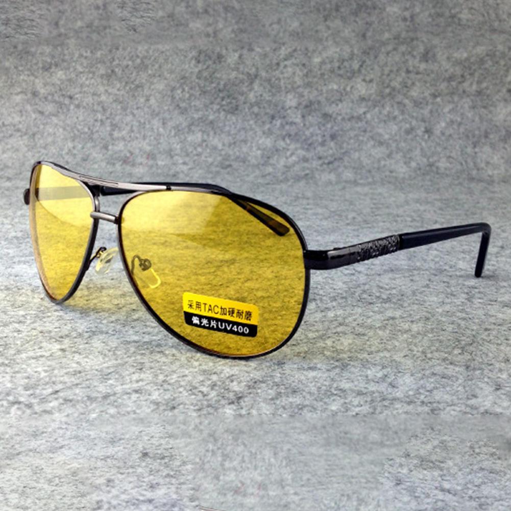 268e696d8a3 Night Vision Goggles Polarized Sunglasses Men Car Driving Glasses Anti Glare  Alloy Frame Glasses Yellow Lens 2018 Eyeglasses Sunglasses Hut From  Ancient88