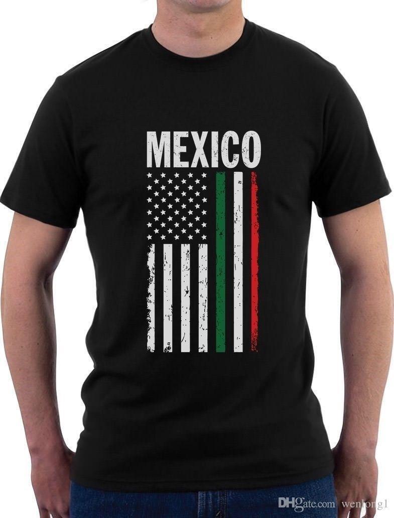 Idee Cadeau Etats Unis.Drapeau Americain Mexicain Mexique Etats Unis Usa T Shirt Idee Cadeau T Shirts Mode 2018 Vetements Design Top Tee