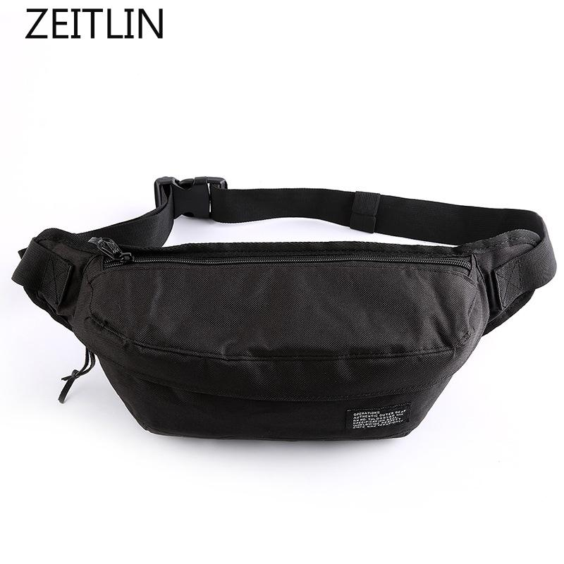 Litthing Fashion Women Men Fanny Solid Pack Waist Bag Sport Unisex Waistbag Belt Bag Mobile Phone Zipper Pouch Packs Belt Fine Jewelry