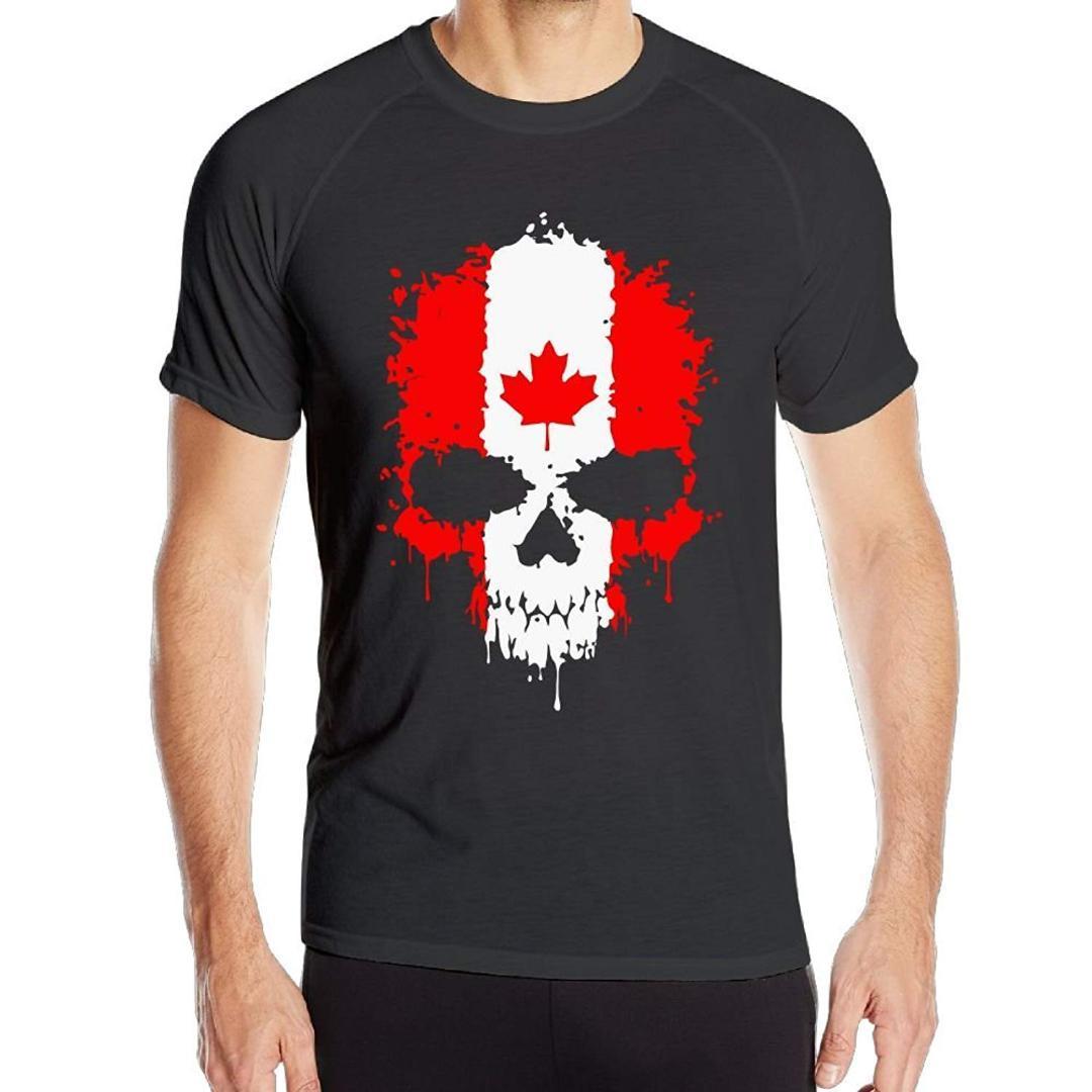 Mens hyperdri short sleeve tshirts canadian flag skull fitness top pt shirts tourist shirt from vanilla06 30 9 dhgate com
