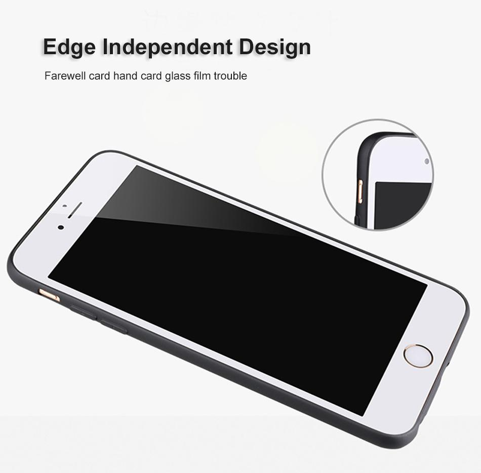 Slim Soft TPU Silicone Case Cover Black Color Matte Phone Cases Shell For iPhone X 8 7 6 6S Plus OPP