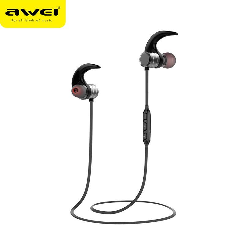 444babc50ca AWEI AK1 Bluetooth Earphone Wireless Headset Cordless Headset Sport Earpiece  Stereo Headfone For Phone Kulakl K With Magnetic Wireless Bluetooth Earbuds  50 ...