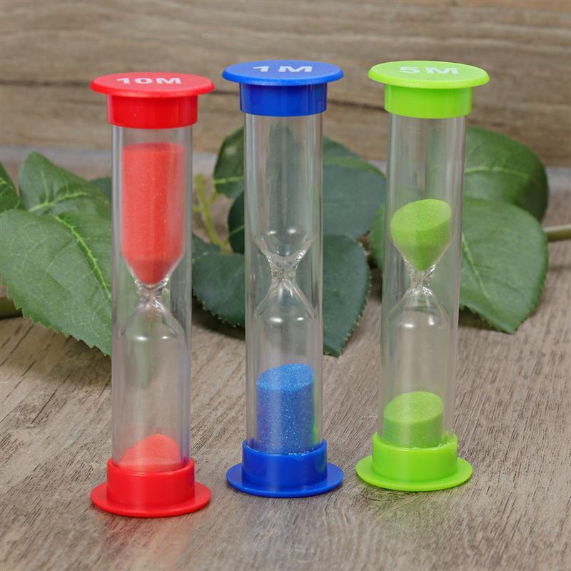 Colorful Sandglass Hourglass Sand Clocks Timers Kids Gifts Kitchen Tools Set 30sec 1min 3mins 5mins 10mins New Home Décor Gift for kids