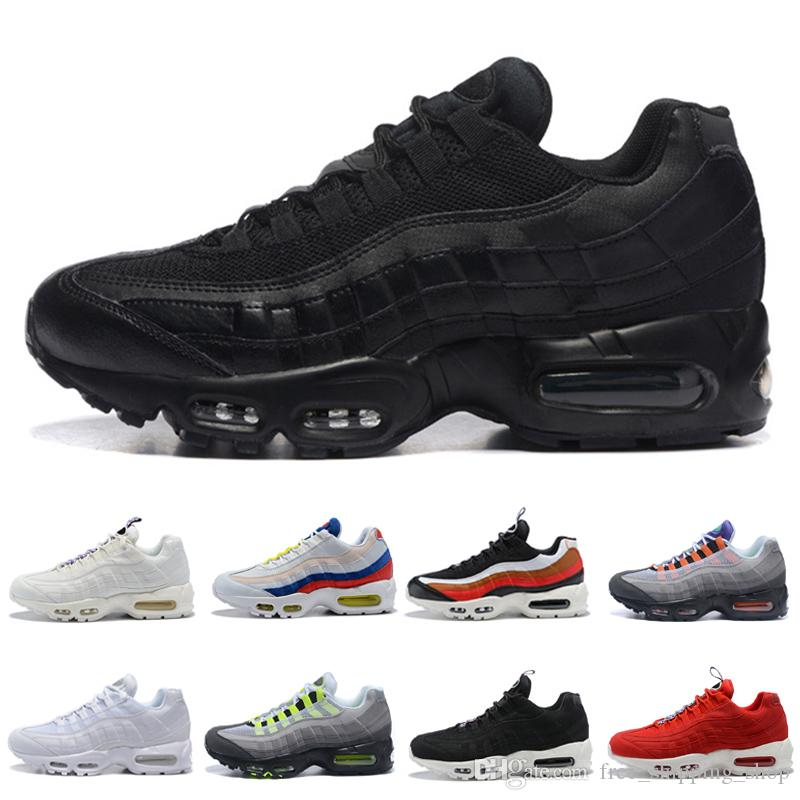 Original Triple Black 95s Running Shoes For Men Womens TT Black Red What  The SE OG Neon Sneakers Outdoor Sports Walking Jogging Zapatos Spikes Shoes  Best ... ddc4914d1