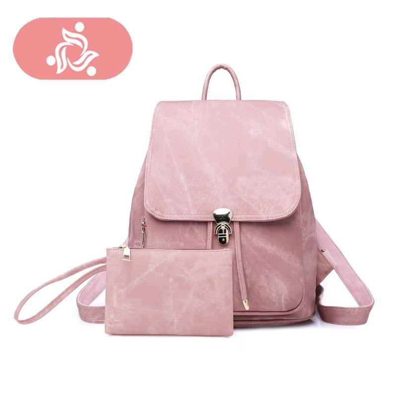 7ba9fc443a62 Women Backpack Fashion Leather Backpacks Drawstring Black Rucksack Shoulder  Bag Backpacks For Teenage Girls Grey School Bag Backpack Brands Rucksack ...