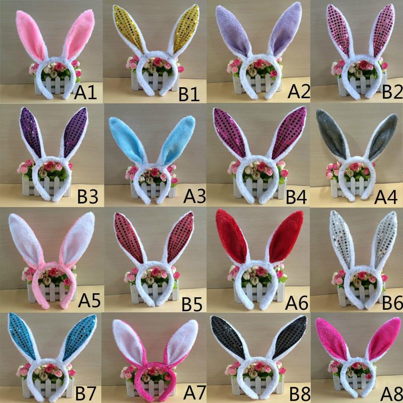 a40631fa92d9e Compre Lovely Girls Rabbit Bunny Ears Headband Festa Da Páscoa Cosplay  Decorações Mulher Tail Necktie Birthday Party Costume Prop Hairbands Gift  De ...