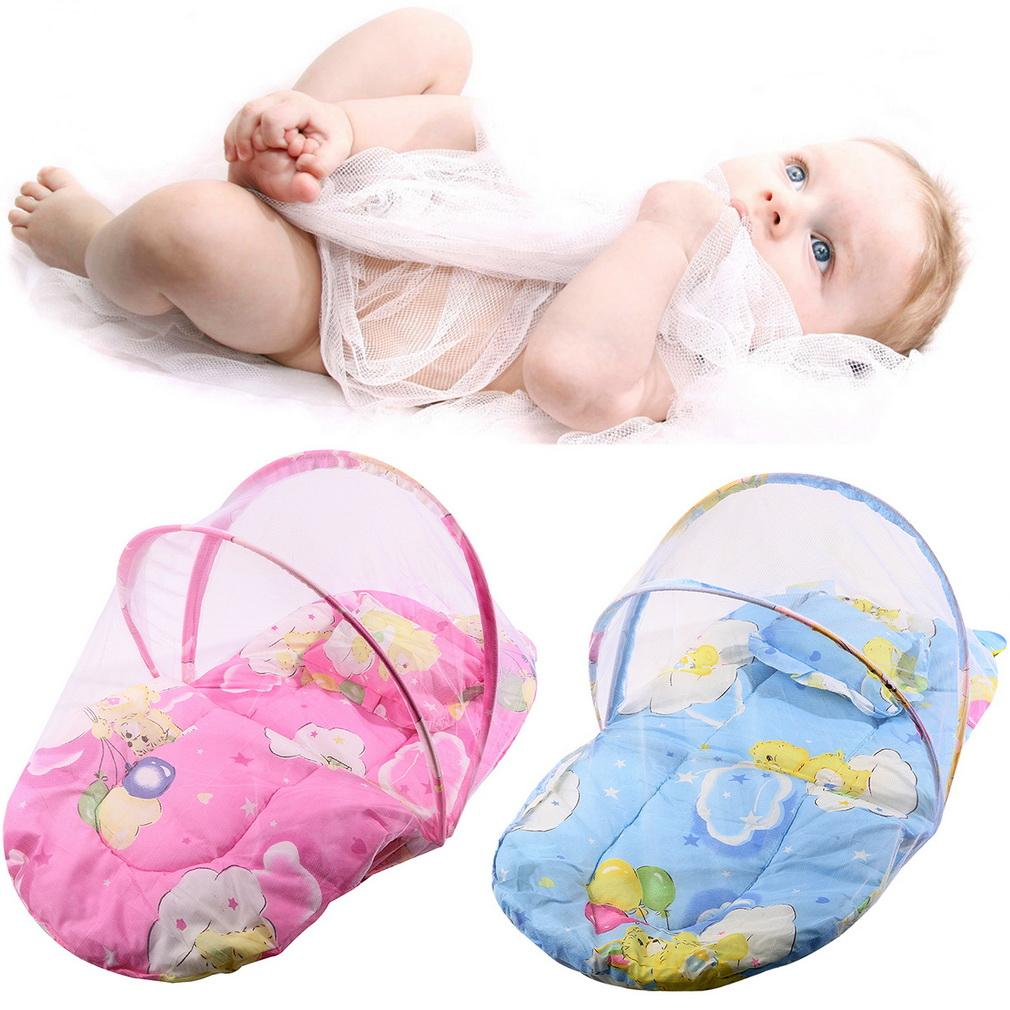 Pink/Blue 2016 New Baby Infant Bed Canopy Mosquito Net Cotton ... for Folding Mosquito Net For Baby  56bof
