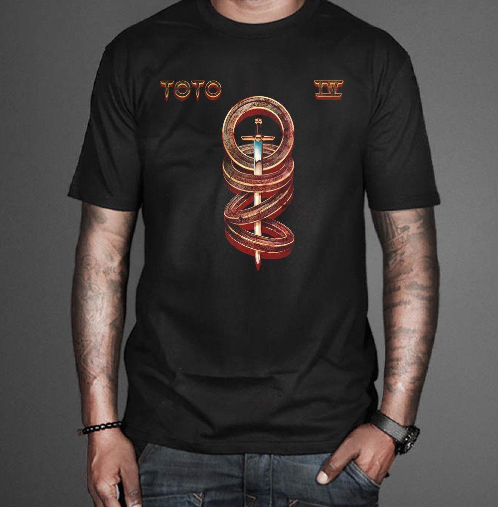 New Toto T Shirt Album Iv Rock Band Legend Men\'S Black Tee Size S ...