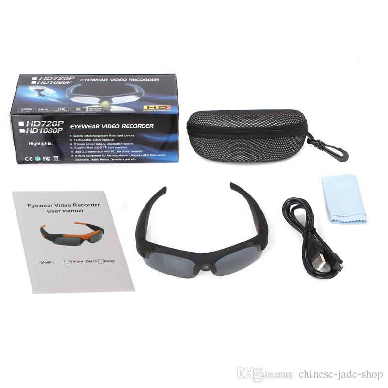 HD 1080P Sonnenbrille Kamera Mini Camcorder Eyewear Videorekorder Weitwinkel 120 Grad Sportbrillen Unterstützung TF Karte SM16 /