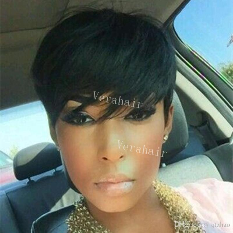 100% Human Hair Short Wigs Glueless Pixie Cut Bob Wigs for Women can be washed and curled Charming Women Short Bob Wigs