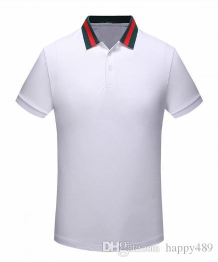 Acquista T Shirt A Manica Corta Da Uomo In Cotone Milano Con Risvolto A  Mezza Manica Con Ricamo Insetto T Shirt European Station Fashion 2018 A   23.62 Dal ... 90312c3e4ac