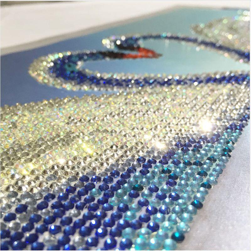 5D Diamante Ricamo Pittura Fai da te Cristallo Cigno Mosaico Strass Punto croce Pittura murale Strass Immagine Decorazione di cerimonia nuziale