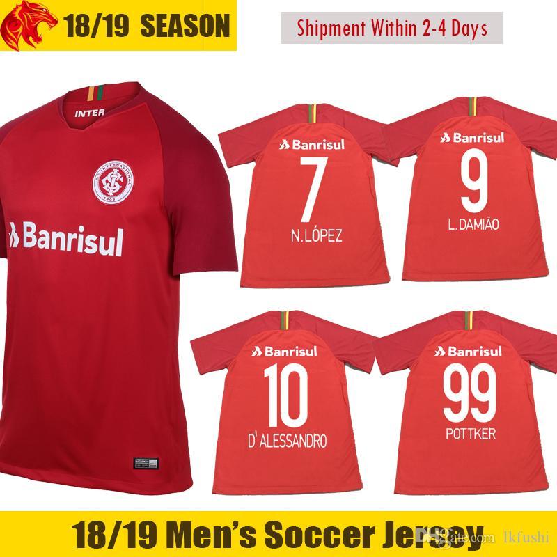 18 19 sc internacional soccer jerseys 2018 2019 n.lopez jersey l.damiao football shirt pottker sc in