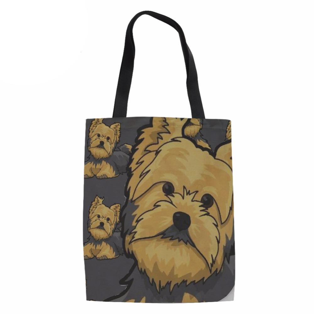 Eco Reusable Shopping Bags Women Yorkie Design Ladies Heavy Duty Shop  Shoulder Bag For Females Funny Recycle Grocery Bag Jute Shopping Bags Eco  Friendly ... 059bbc532f