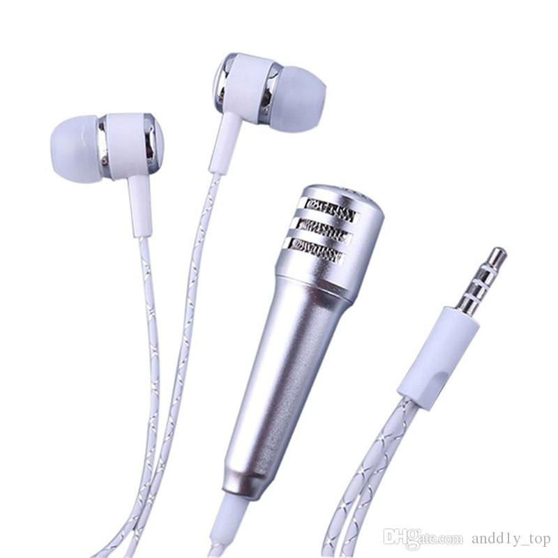 New mobile phone microphone with headphones one-piece perfume capacitance sing karaoke treasure mini microphone